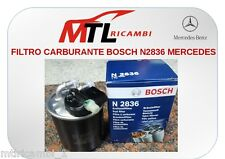 FILTRO CARBURANTE BOSCH N2836 MERCEDES BENZ A-CLASS W176 DAL 2012 AL 2014