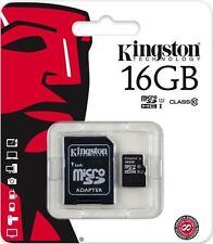MicroSD HC 16GB Classe 10 Kingston con Adattatore SD ideale Smartphone e Tablet