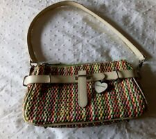 SUZY SMITH MULTI-COLOUR WOVEN SMALL HANDBAG / CLUTCH