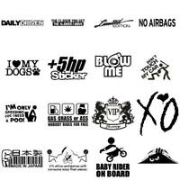 Various Auto Car Sticker Lowered Window Truck Bumper Vinyl Decal Car Accessory