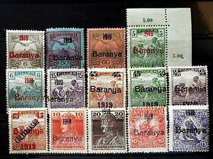 Hungary stamps Serbien occupation BARANYA I.overprint 1919 * - SIGNED (Bodor)