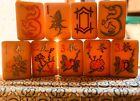 Chinese Export Bakelite Amber Mahjong Set 152 Tiles 4 Racks Bettor NMJL Play