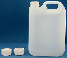 8 X 2.5 Litro naturale PLASTICA JERRY lattine con 38mm T / E TAPPI A VITE