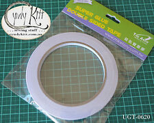 Double Sided Glue Tape, 6mm wide 20m roll