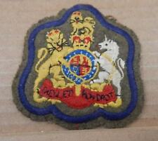 British Army Warrant Officers Cloth Rank Badge Patch Genuine Blue Border