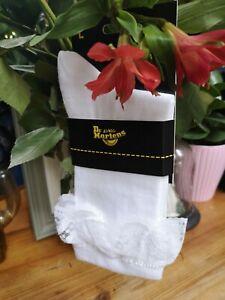Dr Martens DMS White LACE ANKLE  Socks  Lace Socks  LARGE  - UK 9 - 13 ADULT NEW