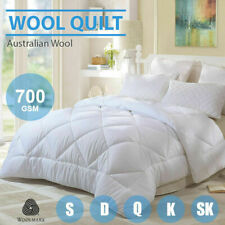 100% Australia Wool Quilt Single /Double/Queen/King/ Super King--700GSM