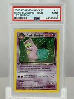 Dark Slowbro #12 2000 Pokemon Rocket 1st Edition HOLO VINTAGE WOTC PSA 9 MINT