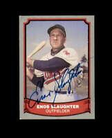 Enos Slaughter Signed 1988 Pacific Baseball Legends St.Louis Cardinals Autograph