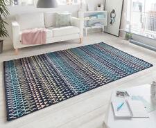 Design Velours Teppich Scandinavian bunt schwarz gemustert