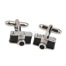 Mens Silver Black Copper Camera Photographer Cufflinks Shirt Cuff Links Gift