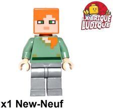 Lego - Figurine Minifig Minecraft Alex flat silver leg MIN026 21125 NEUF