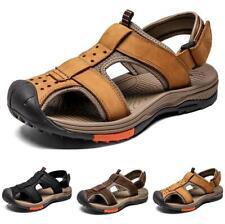 New Men's Beach Sport Sandals Shoes Flats Non-slip Slip on Slingback Closed Toe