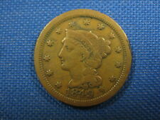 1849 US Braided Hair Large Cent One Cent Coin
