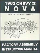 1963 Chevy II and Nova and SS BOUND Assembly Manual 63 Chevrolet Factory
