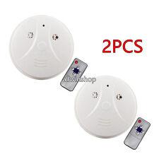 2X Wireless 1080P Spy Smoke Detector Hidden Camera Motion Detect DVR Camera