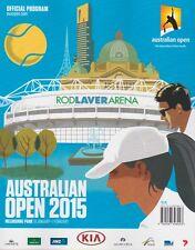 AUSTRALIAN OPEN TENNIS 2015 OFFICIAL PROGRAMME ANDY MURRAY RUNNER UP