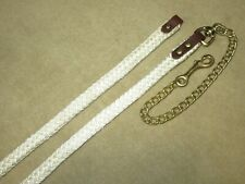 NWOT Lovely SOFT TOUCH Plaited Nylon Lead Line Shank~Brass Chain~Leather Ends