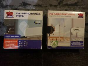2x1m/28mm PVC Türdichtungs-Profil Türdichtung selbstklebend energiesparend OVP