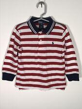 Polo By Ralph Lauren Boys 2T Longsleeve Shirt Striped New