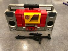 Vintage 1986 Hasbro Transformers G1 Autobot Blaster • Complete • Deck Opens! NR