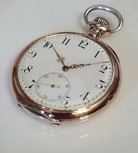 Stunning mint 16s zenith grand prix pocket watch