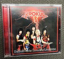 KROKUS Detroit Live 1984 CD Ltd 200!! Hard Rock Rare AC/DC Airbourne Rose Tattoo