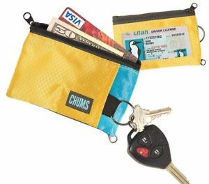 Chums Surfshorts Wallet 12 Colors to Choose Zipper Pockets ID Window Keyring New