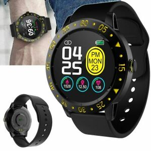 Sports Fitness Tracker Bluetooth Smart Watch Heart Rate Monitor Remote Camera