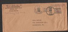 WWII cover Carl A Weber Sp2 (M) Naval Training Center Memphis TN to Philadelphia
