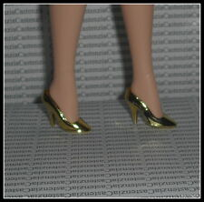 SHOES BARBIE MATTEL HOLLYWOOD CAST PARTY GOLD METALLIC HIGH HEEL PUMPS ACCESSORY
