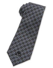 Disney Park Mens Stripe Necktie 100% Silk Tie✿Star Wars Darth Vader Blue Gray