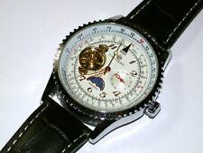 Forsining, Unruhe sichtbar Mondphase,wertvolle Herren Armbanduhr Automatik NM-33