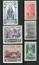 Luxembourg 1938 ST. WILLIBRORD, ABBEY AT ECHTERNACH Sc B 86-91 VFOG