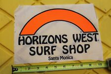 HORIZONS WEST Santa Monica Surf Shop Dogtown Z-Boy Nathan Pratt Laminating Decal