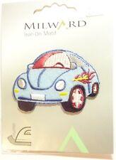 Applikation Auto hellblau VW Käfer von Milward zum Aufbügeln