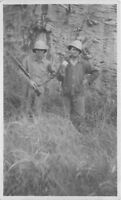 C-1910 Men Hunters Pith Helmets Rifle  RPPC Photo Postcard 357