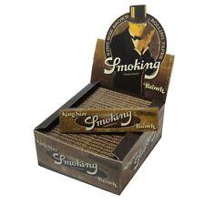 Cartine SMOKING BROWN SLIM LUNGHE 1 Box  KING SIZE Marroni + accendino omaggio