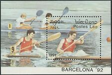 LAOS Bloc N°113** jeux olympiques 92, Aviron, 1991, rowing olympic games MNH