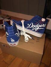 9562b9237fa Mens Vans x MLB LA Dodgers sk8 hi blue suede shoes size 8.5 Deadstock