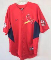 Nike Team St. Louis Cardinals Baseball Jersey Shirt Embroidered Pujols Sz M- Big