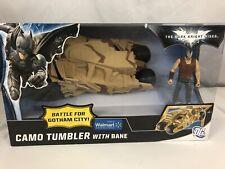 WALMART Batman Dark Knight Rises Camo Tumbler with Bane Figure- NIB Look!!