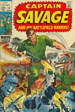 CAPTAIN SAVAGE AND HIS BATTLEFIELD RAIDERS #12 F, Marvel Comics 1969 Stock Image
