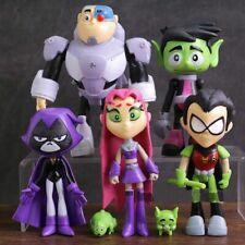7Pcs/Set Teen Titans Go! Robin Cyborg Beast Boy Raven Starfire Action Figure Toy