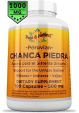 Organic Chanca Piedra 2 capsules 1000mg per serving- 100 capsules kidney stones