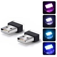 Universal 4 Colors Mini USB LED Wireless Car Interior Lighting Atmosphere Light