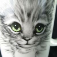 Otagiri Japan Cat Mug Green Eyes Gibson