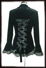 Button No Pattern Plus Size Velvet Coats & Jackets for Women