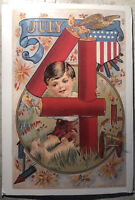 Postcard USA United States Of America 4th Of July Reprint From 1908 Posted 2009