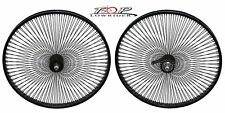 "24"" x 1.75"" Steel Bike Wheel 144 Spoke 14g Black 3/8 Axle Black Bicycle Wheel"